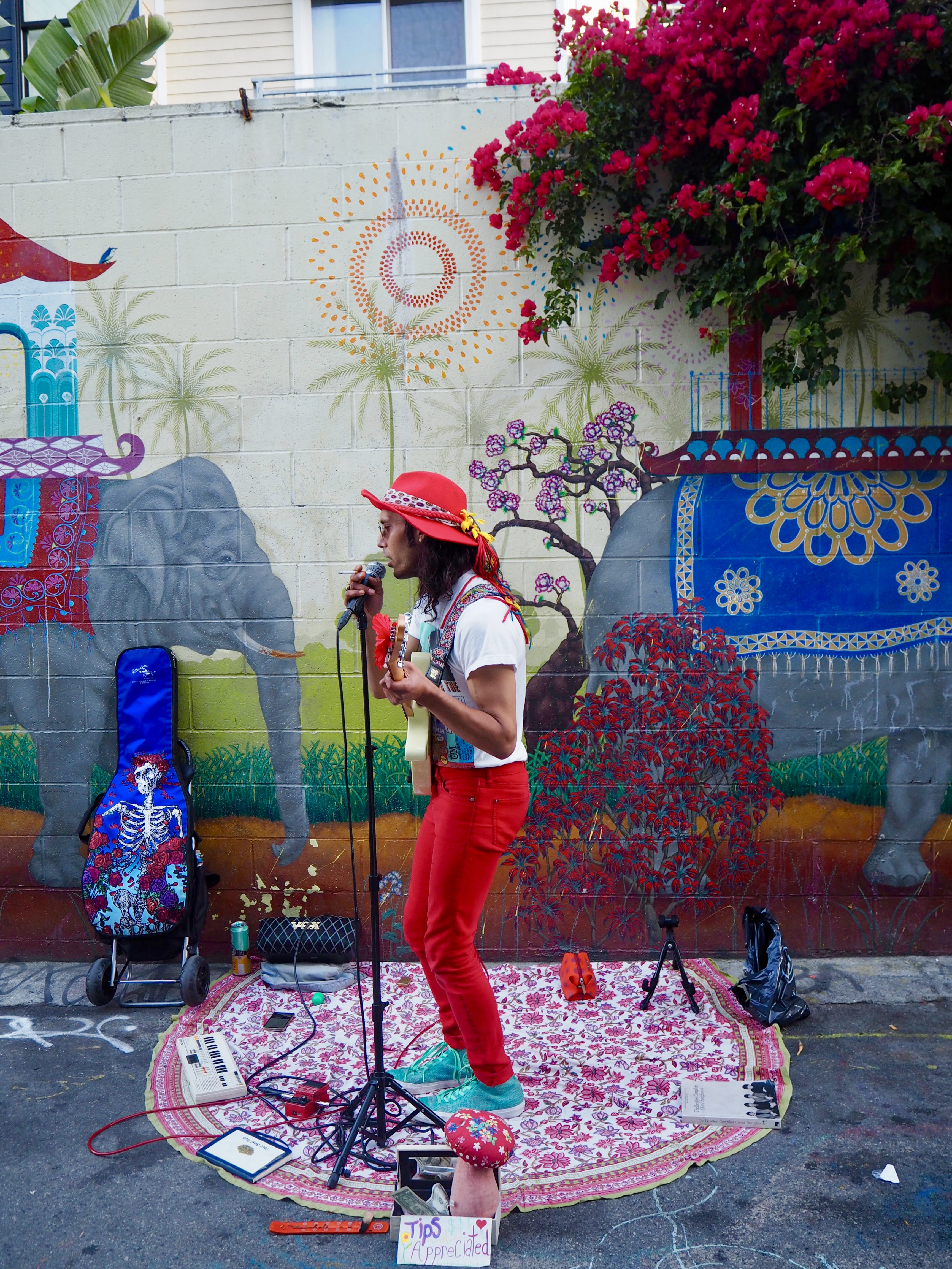 Artists playing at Clarion Alley