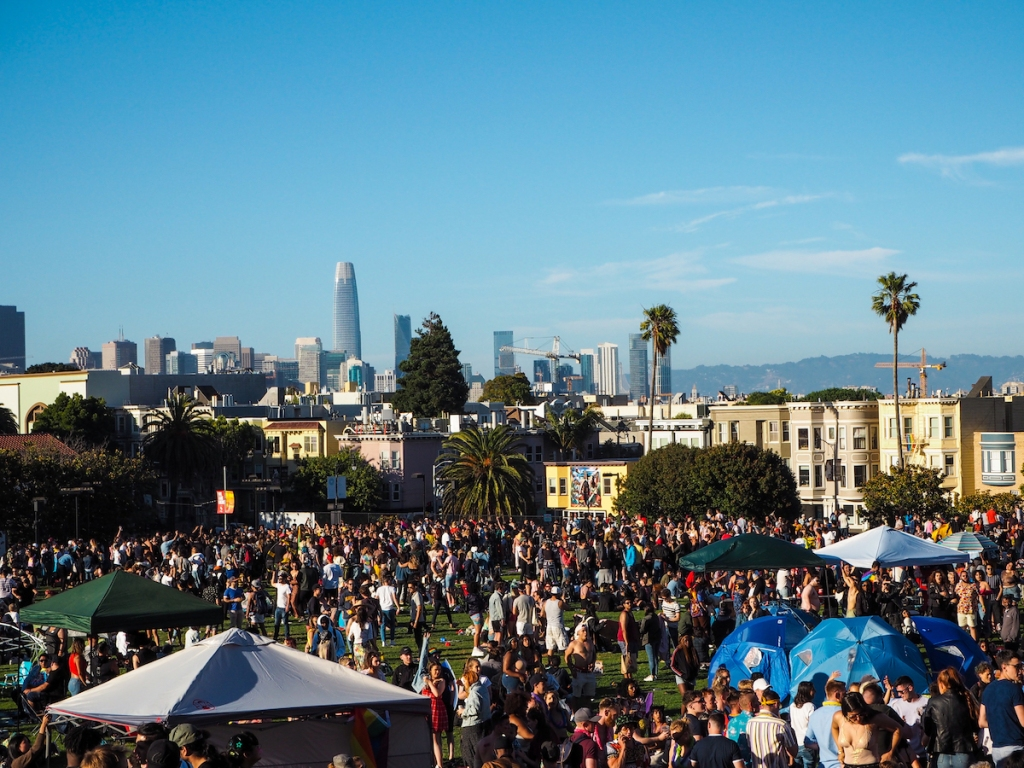 Mission Dolores Park during San Francisco Pride