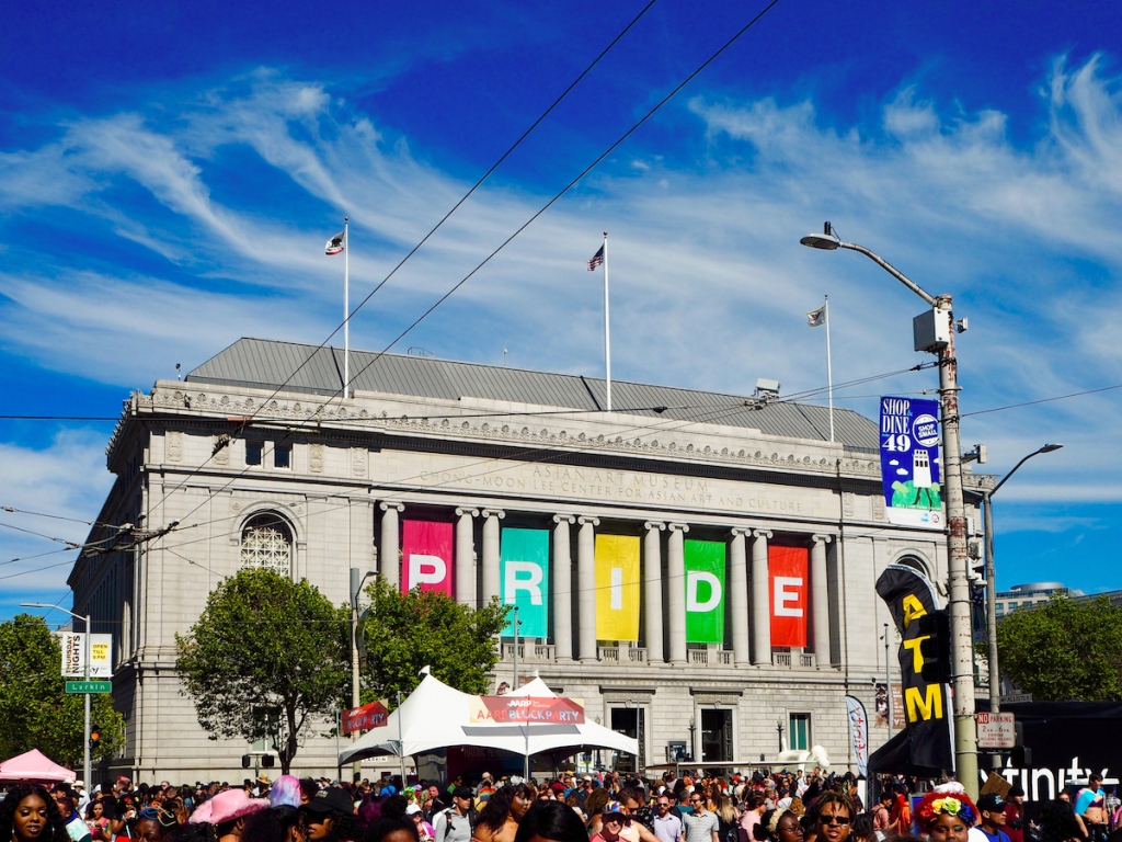 Asian Art Museum during San Francisco Pride