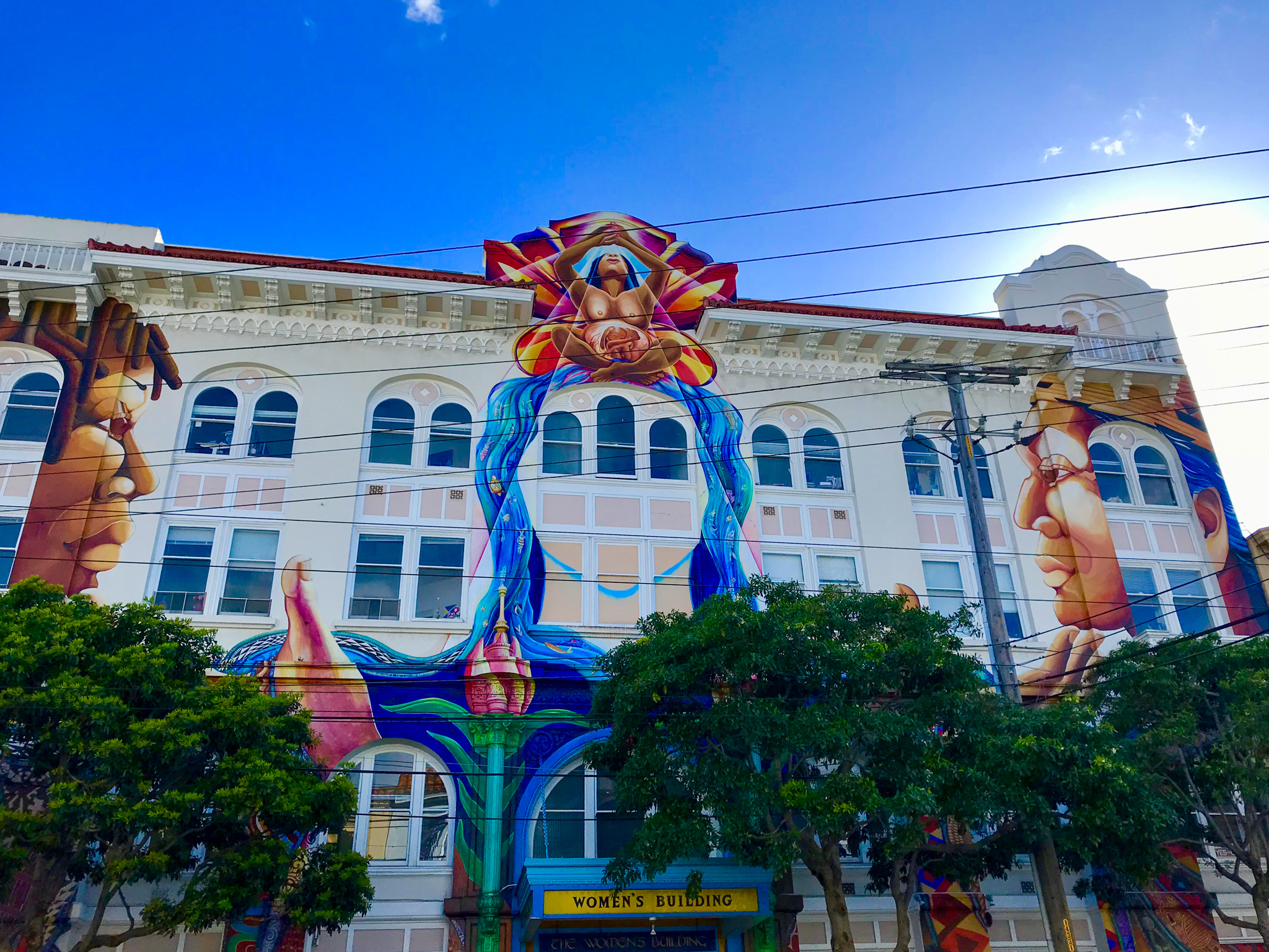 The building front of Women's building at Mission District, San Francisco.