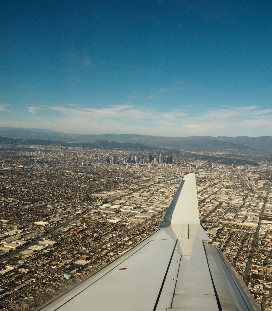 Landing to LAX airport