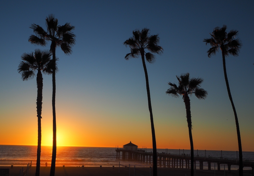 Sunset at Manhattan Beach