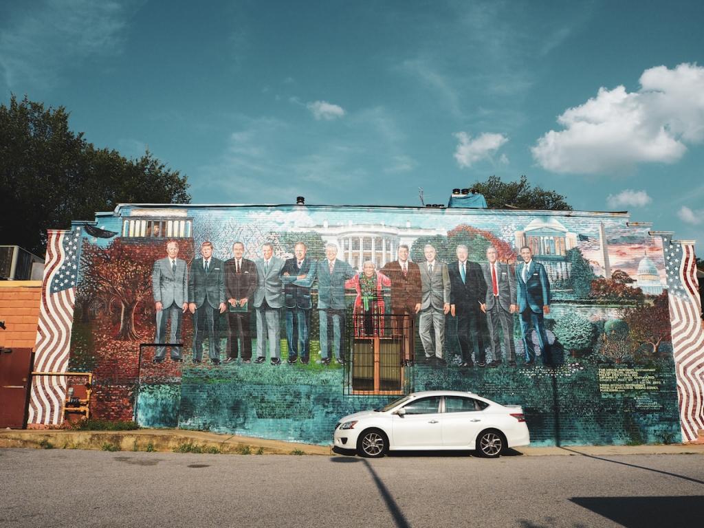 Presidential mural by Karla Rodas