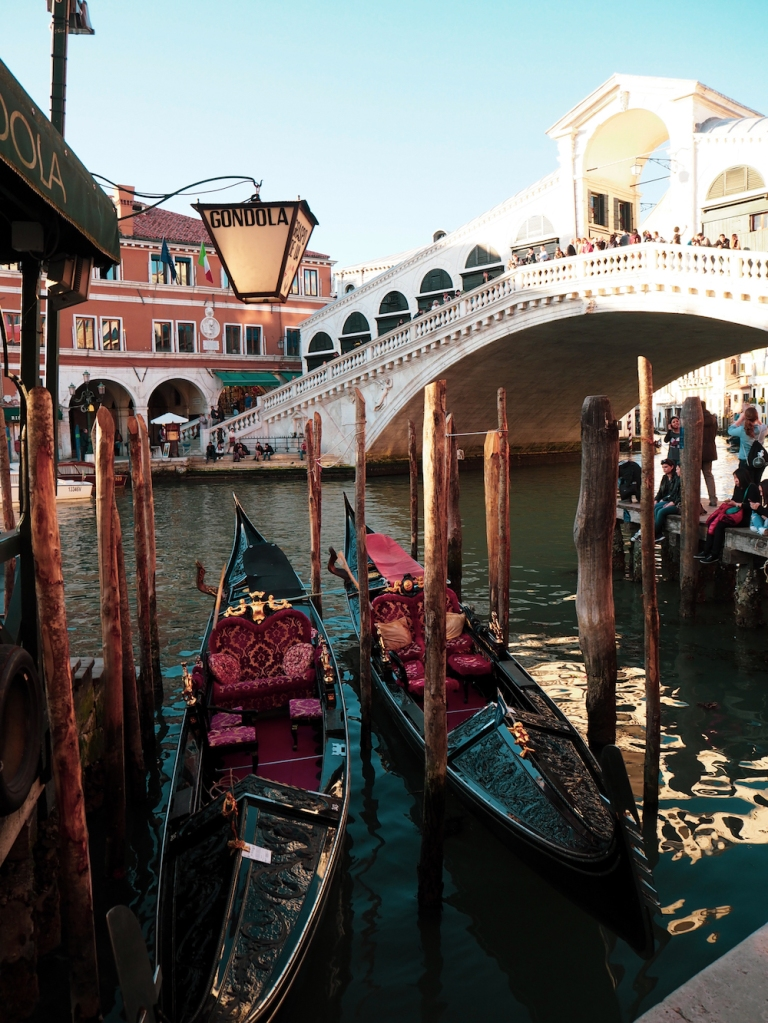 The Rialto Bridge is one of Venice's best known landmarks.