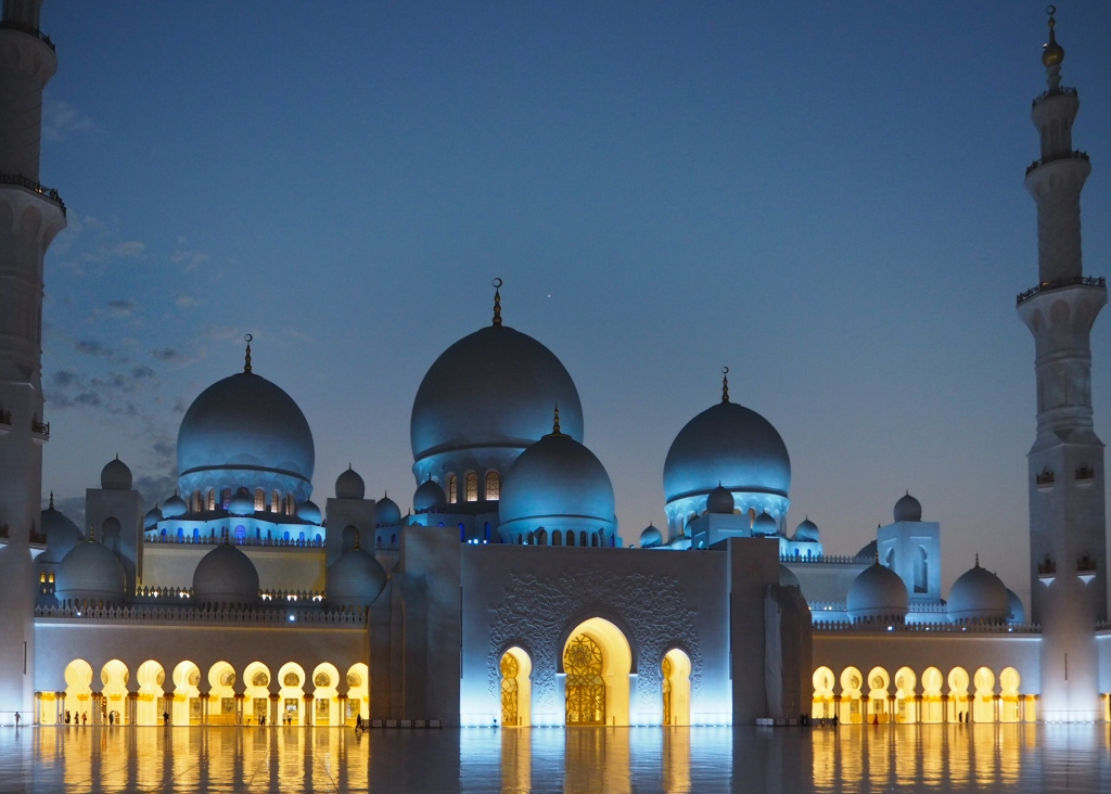 Grand Mosque Abu Dhabi at night