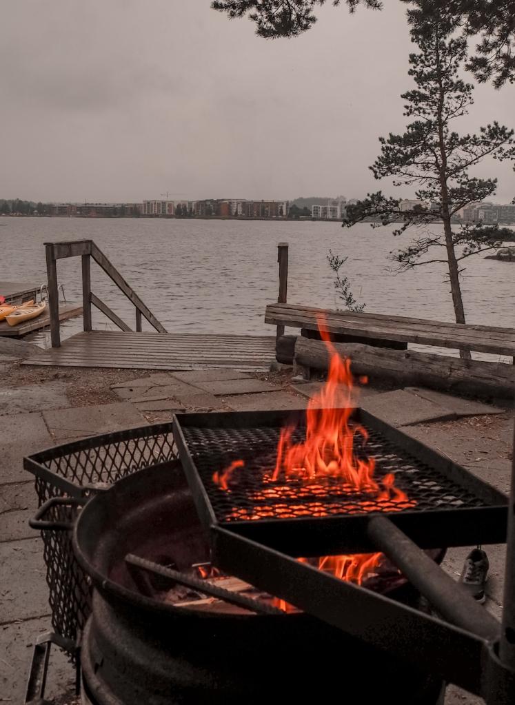 Barbecue at Karhusaari